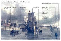 Liverpool from mersey 1829