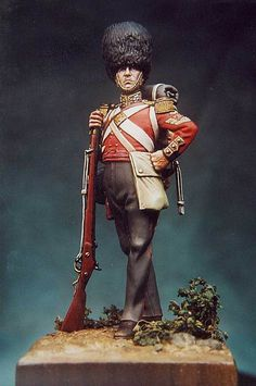 Scots Fusiler Guards, by Bill Horan. Crime, War Film, Age Of Empires, Military Figures, Pin Pics, Miniature Figurines, Emerald Isle, Toy Soldiers, Art Forms