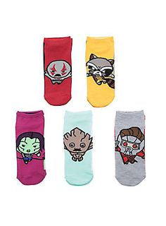 Guardians of your feet // Marvel Guardians Of The Galaxy Chibi No Show Socks 5-Pair