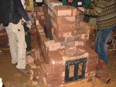 Firebox window, rocket thermal mass heater |  MHA News - 2009 Meeting at Wildacres