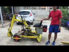 Homemade mini excavator - YouTube