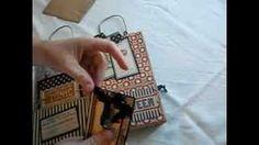Making mini albums with bags - YouTube