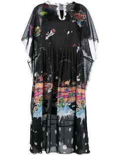 Cheap Tsumori Chisato Multicolor Printed Shift Dress For Women