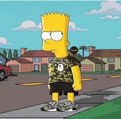 Bart Simpson Hype Bape Adidas
