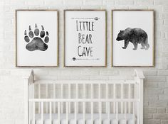 16x20 inch digital download Nursery Decor - Bear Cave in Grey/Black watercolor all three prints come with listing ♥This file is for PERSONAL use only and may NOT be transferred or sold in any way ♥ ♥♥♥♥♥♥♥♥♥♥♥♥♥♥♥ You are purchasing a digital file only ♥♥♥♥♥♥♥♥♥♥♥♥♥♥♥ THIS IS
