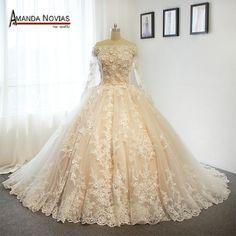 Luxury Flowers Wedding Dresses 2017 Real Pictures Amanda Novias bridal dress  FREE Shipping Worldwide  Get It here ---> https://thewomandress.com/luxury-flowers-wedding-dresses-2017-real-pictures-amanda-novias-bridal-dress/