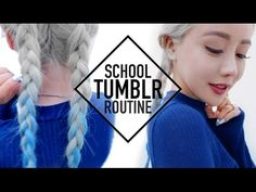 Tumblr Baddie School Routine Makeup Hair and Outfit ♥ Wengie - YouTube