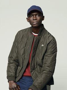 The Quilted Bomber Jacket with Banana from the #GolfMountain collection by #Lacoste, is a great look for Fall or Winter.
