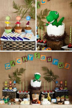 Dinosaur Party Full of Really Cute Ideas via Kara's Party Ideas KarasPartyIdeas.com #DinosaurCake #DinosaurDesserts #PartyIdeas #Supplies (2...