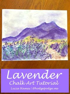 Lavender chalk art tutorial