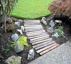pallet crafts - so pretty for the yard. Just a bit of landscape!