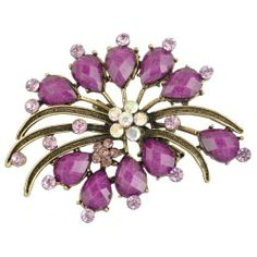 Purple Spider Flower Brooch Brooched. $27.99. 30 Day No Hassle Return Policy. We only sell quality products that look fabulous.. Ships in a durable carboard box for protection. Save 49% Off!