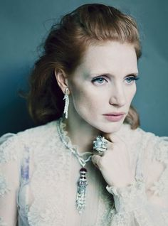 Actress Jessica Chastain wears haute couture Photos | W Magazine, May 2012