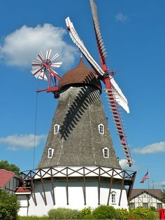 The windmill was brought from Denmark to Elk Horn in 1975. The windmill is from Nørre Snede in Denmark and dates back to 1848. Its the only authentic Danish windmill in the states