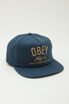 Company Snapback Hat, Snapback Hats - Obey Clothing UK Store - Obey Mens Clothing, Obey Womens Clothing, Obey T shirts and all things Shepar...