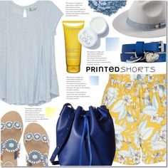 How To Wear Prints charming A Short Story V Blue and Yellow Outfit Idea 2017 - Fashion Trends Ready To Wear For Plus Size, Curvy Women Over 20, 30, 40, 50