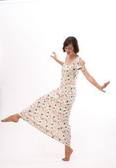 Vintage 1970s Maxi Dress  70s Summer Dress  by concettascloset, $42.00