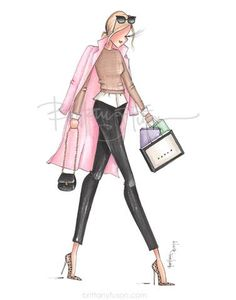 individual print, packaged in a clear sleeve with cardboard backing Fashion 2020, Fashion Art, Spring Fashion, Girl Fashion, Fashion Outfits, Fashion Design Portfolio, Fashion Design Sketches, Fashion Drawings, Fashion Figures