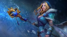 Rylai Crystal Maiden Dota  Hd Wallpaper Girl X Gaming Magazines Hd Wallpaper