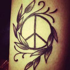 Finaly my own Peace-tattoo :-)  Love it <3<3<3
