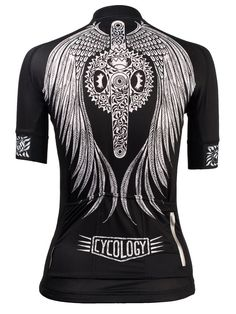 Flow Women's Cycling Jersey in black from Cycology Clothing