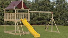 Wooden swing sets can be a nice way to a fun and beauty to your backyard. Contact Pleasant View Structures to order a new wooden playground!