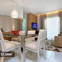 TONS PARA SALA Living - Apartamento Decorado(Muza Construtora)