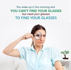 A great reason to use your FSA on a pair of glasses before you loose it in Eye Exam, You Loose, Brain Tumor, Optometry, Wake Up, Close Up, Finding Yourself, How To Get, Eyes