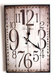 Wall Clock - Shabby Chic Distressed Antique Rustic Style Clock for Kitchen Office Cafe Work Chic Shabby Rustic Woodgrain Painted Effect Style Kitchen Shabby Chic Wall Clock, Shabby Chic Office, Shabby Chic Kitchen, Rustic Kitchen, Vintage Kitchen, Pallet Clock, Pallet Art, Diy Clock, Clock Ideas