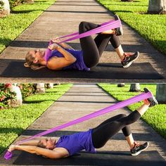 The resistance band workout..super excited I happen to have one if these bands lying around!