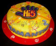 Torta decorada con fondant. HI-5