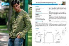 Algunos patrones de tejido para hombre Periodic Table, Men Sweater, Knitting, Lima, Crochet, Ideas Para, Google, Fashion, Tricot