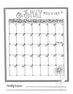 May Bullet Journaling Calendar! – 1Arthouse