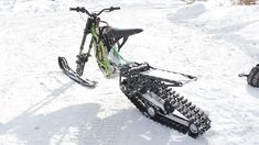 Snowbike kit for the Surron X electric motorcycle from SNOWBIKE LLC. No equivalent in the world. Easy to install on the Surron family of motorcycles. No special skills or tools required. The kit turns the Surron into a lightweight snowmobile. You will be able to use your Surron in winter on snow up to 50 cm deep. Get new emotions from your bike. Bike, Motorcycles, Electric, Snow, Ebay, Deep, Tools, Winter, Bicycle