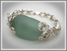 Bermuda Sea Glass Bracelet in Sea Foam, $62.00