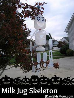 Milk Jug Skeleton #Halloween #kids #craft