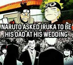 Naruto asked Iruka to be his dad at his wedding, text, fact, Iruka, Naruto, Hinata, young, childhood, crying; Naruto
