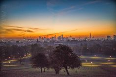 Early morning sunrise from Primrose Hill