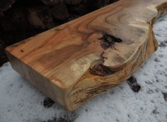 Reclaimed Wood Mantel - Rustic Live Edge Fireplace Mantel or Mantle Shelf(50 x 12-3/4 x 2-7/8) - Handcrafted By Harvestbilt