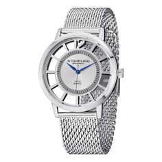 Stuhrling Original Mens 388M01 Winchester SilverTone Stainless Steel Watch with Mesh Band ** Visit the image link more details. (This is an affiliate link) #BabyGWatch