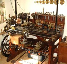 What a beautiful machine!  I wish I had one.  Goyen Ornamental treadle lathe