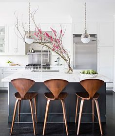 Navy, Wood and Grey Kitchen | Grant K. Gibson