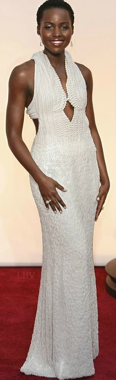 Lupita Nyong'o ♥✤ in Francisco Costa of Calvin Klein Collection at the 2015 Oscars