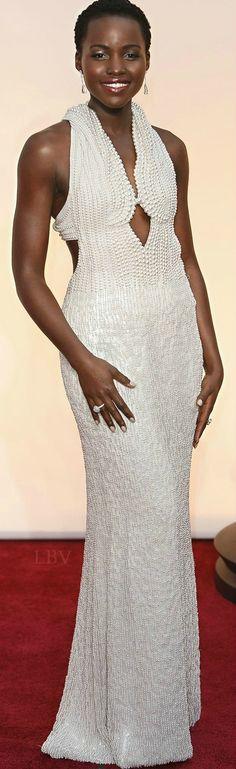 Lupita Nyong'o ♥✤ in Francisco Costa of Calvin Klein Collection at the 2015 Oscars
