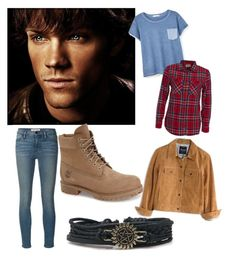 """Sam Winchester"" by supernatural-fangirl ❤ liked on Polyvore featuring SAM, MANGO, Denim & Supply by Ralph Lauren, Madewell, Timberland and Frame Denim"
