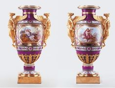 Manufacture nationale de Sèvres. Vase Japon. 1793. Hard paste porcelain…