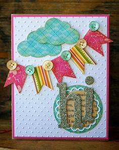 very cute pennants card