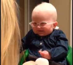 This video of a baby seeing her mother for the first time is too cute for words. #mommytube #adorable #kid #eyesight