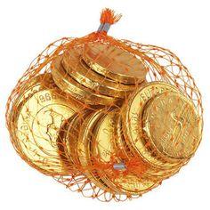Schoko-Kaubonbon-Münzen