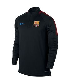 06f1d172948b Nike 854191-011   Mens FCB Barcelona Long Sleeve Dry Drill Top Black Red (X  Large